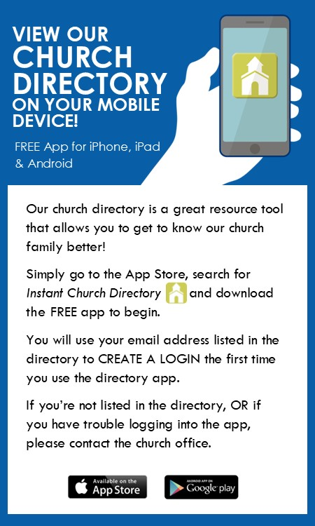 Instant Church Directory On Your Mobile Device Instantly